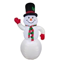 ALEKO CHID013-AP Giant Inflatable LED Snowman for Yard - 8 Foot