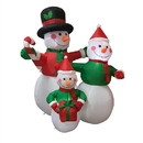 ALEKO CHID022-AP Inflatable Family Of Festive Snowmen With Ul Certified Blower - 4 Foot