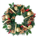 ALEKO CHW012-AP Decorative Holiday Christmas Artificial Wreath With Pine Cones And Gold Accents