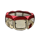 ALEKO DK-49-BG-AP Octagonal Portable Pop-up Pet Playpen - 45 Inches - Burgundy