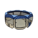 ALEKO DK-49-BL-AP Octagonal Portable Pop-up Pet Playpen - 45 Inches - Blue