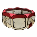 ALEKO DK-61-BG-AP Octagonal Portable Pop-up Pet Playpen - 57 Inches - Burgundy