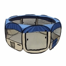 ALEKO DK-61-BL-AP Octagonal Portable Pop-up Pet Playpen - 57 Inch - Blue