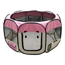 ALEKO DK-61-PK-AP Octagonal Portable Pop-up Pet Playpen - 57 Inches - Pink