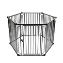 ALEKO DK6P60-AP 6 Panel Heavy Duty Dog Playpen with Door - Large