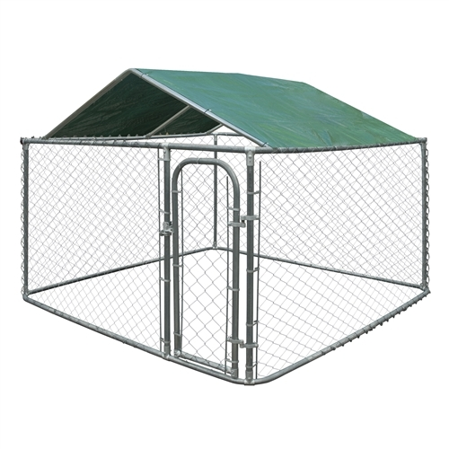 Opentip Com Aleko Dkrfc12x12gr Waterproof Dog Kennel Roof Cover With Aluminum Grommets For 12 X 12 Feet 3 7 X 3 7 M Kennels Green