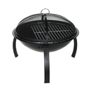 ALEKO FP001-AP Classic Round Steel Fire Pit with Flame Retardant Lid - Black - 22 Inches