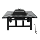 ALEKO FP010-AP Heavy Duty Steel Table Top Fire Pit with Lid and Poker - 30 Inches - Black