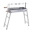 ALEKO GBBQ880-AP Lightweight Portable Foldable Stainless Steel Charcoal Barbecue Grill with Roasting Bar