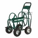 ALEKO GHRC400-AP Heavy Duty Outdoor Industrial Hose Capacity Reel Hose Cart - 4 Wheel - Green - 400 Feet
