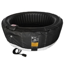 ALEKO HTIR4BKBK-AP Round Inflatable Hot Tub Spa With Zip Cover - 4 Person - 210 Gallon - Black