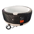 ALEKO HTIR4BKWH-AP Round Inflatable Hot Tub Spa With Zip Cover - 4 Person - 210 Gallon - Black and White