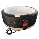 ALEKO HTIR6BKWH-AP Round Inflatable Hot Tub Spa With Zip Cover - 6 Person - 265 Gallon - Black and White