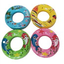 ALEKO IFPT41-AP Deluxe Inflatable Pool Tube Floats - Tropical Destination - Set of 4