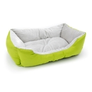 ALEKO PB06GR 20 X 16 X 6 Inch (51 X 41 X 15 cm) Soft Plush Pet Cushion Crate Bed, Green