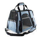 ALEKO PBCBLS-AP Portable Heavy Duty Pet Travel Shoulder Carrier Bag - Blue and Black