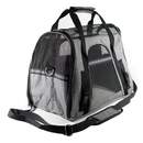 ALEKO PBCGYS-AP Portable Heavy Duty Pet Travel Shoulder Carrier Bag - Gray and Black