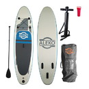 ALEKO PBS01-AP Inflatable Paddle Board with Carry Bag - Blue and Gray
