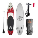 ALEKO PBS02-AP Inflatable Paddle Board with Carry Bag - Red Drip