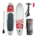 ALEKO PBS04-AP Inflatable Paddle Board with Carry Bag - Red and Gray