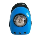 ALEKO PC09BL-AP Astronaut Bubble Window Hard Shell Pet Backpack - Blue Shell