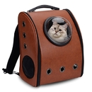ALEKO PC10CF-AP Luxury Astronaut Bubble Window Pet Backpack - Brown