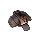 ALEKO PCE01BKS-AP Heavy Duty Expandable Pet Carrier for Travel  - Small - Brown