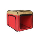 ALEKO PCM013RD-AP Heavy Duty Portable Pop Up Pet Crate Shelter Carrier - Medium Size - Red