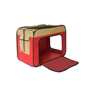 ALEKO PCS013RD-AP Heavy Duty Portable Pop Up Pet Crate Shelter Carrier - Small Size - Red
