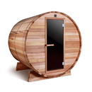 ALEKO SB4CEDAR-AP Outdoor and Indoor Rustic Western Red Cedar Barrel Sauna - ETL Certified Heater - 4 Person