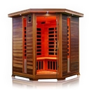 ALEKO SD3CYUG-AP SD3CYUG 3-4 Person Canadian Red Cedar Indoor Dry Infrared Sauna with 8 Carbon Fiber Heaters
