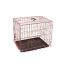 ALEKO SDC-2D-30P-AP Folding Dog Cage with ABS Tray - 2-Door - 30 Inches - Pink