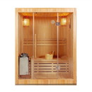 ALEKO SEA3DON 3 Person Canadian Hemlock Wood Indoor Wet Dry Sauna with 3 KW ETL Electrical Heater