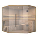 ALEKO SEA5JIU 5-6 Person Canadian Hemlock Wood Indoor Wet Dry Sauna with 6 KW ETL Electrical Heater