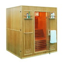 ALEKO SEN4BUG 4 Person Canadian Hemlock Wood Indoor Wet Dry Sauna with 4.5 KW ETL Electrical Heater