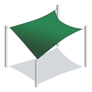 ALEKO Rectangle 20 X 16 Feet (6 X 4.9 m) Green Color Fabric Patio Outdoor Sun Sail Shade