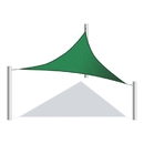 ALEKO SSNTRI16X16X16GR-AP Sun Shade Sail - Triangular - 16 x 16 x 16 Feet - Green