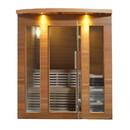 ALEKO STCE5EDEN-AP Clear Cedar Indoor Wet Dry Sauna with Exterior Lights - 4.5 kW ETL Certified Heater - 5 Person