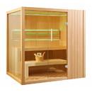ALEKO STHE4INNY-AP Canadian Hemlock Indoor Wet Dry Sauna with LED Lights - 4.5 kW ETL Certified Heater - 4 Person