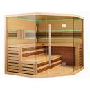 ALEKO STHE6GLEN-AP Canadian Hemlock Indoor Wet Dry Sauna with LED Lights - 6 kW ETL Certified Heater - 6 Person