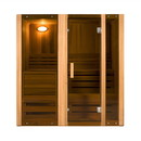 ALEKO STI3CED Canadian Cedar Indoor Wet Dry Sauna Steam Room - 3 kW ETL Certified Heater - 3 Person