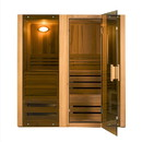 ALEKO STI3HEM Hemlock Indoor Wet Dry Sauna Steam Room - 3 kW ETL Certified Heater - 3 Person