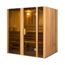 ALEKO STI4HEM Hemlock Indoor Wet Dry Steam Room Sauna - 4.5 kW ETL Certified Heater - 4 Person