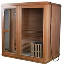 ALEKO STI4TURKU Canadian Hemlock Indoor Wet Dry Sauna - 4.5 kW ETL Certified Heater - 4 Person
