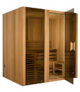 ALEKO STI6CED 6 Person Canadian Cedar Indoor Wet or Dry Steam Room Sauna with 6KW ETL Certified Heater
