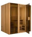 ALEKO STI6CED-AP Canadian Cedar Indoor Wet Dry Steam Room Sauna - 6 kW ETL Certified Heater - 6 Person