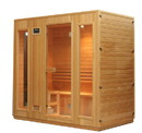 ALEKO STI6ESPOO Canadian Hemlock Indoor Wet Dry Sauna - 4.5 kW ETL Certified Heater - 4 to 5 Person