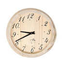 ALEKO WJ11-AP Handcrafted Analog Clock in Finnish Pine Wood