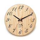 ALEKO WJ12-AP Handcrafted Sleek Analog Clock in Finnish Pine Wood