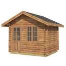ALEKO WLCPI01-AP Wooden DIY Outdoor Studio-Home Cabin and Cottage Space